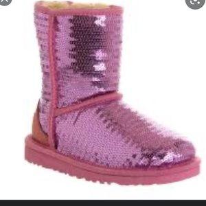 UGG Pink Sequin Ugg Boots